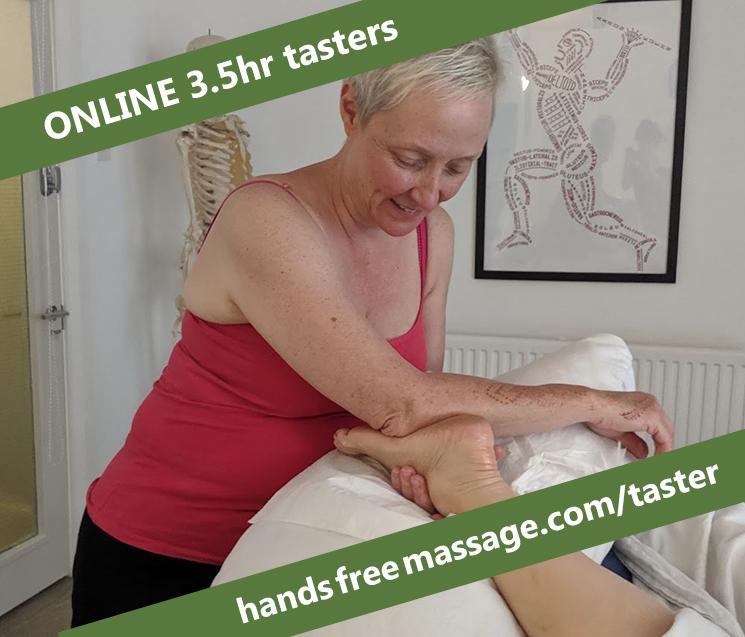 3.5 hour Hands Free Massage Taster session – ONLINE